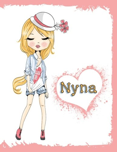 Nyna: Personalized Book with Name, Journal, Notebook, Diary, 105 Lined Pages, 8 1/2