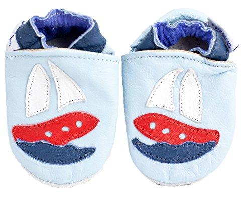 Shoozies , Baby Jungen Krabbelschuhe & Puschen Blau hellblau