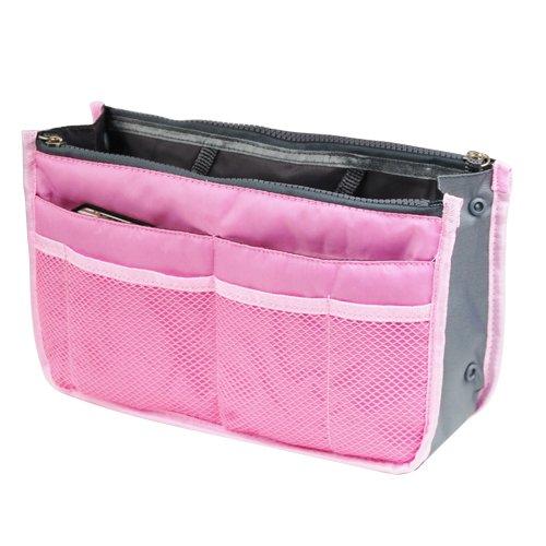 veroda Reise Tasche Geldbörse Halter Lady Damen Kosmetik Tasche 12Fächer rose (Organizer Legen Geldbörse Handtasche)