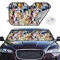 Risating Auto-Sonnenschutz für SUV, LKW, Minivan, UV-Reflektor, Sonnenschutz, Sonnenschutz, Katzen-Motiv