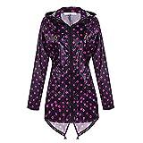 Damen Regenmantel Outdoor Regenjacke Wasserdichte Kapuzen Wandern Regenmantel Jacke Outwear