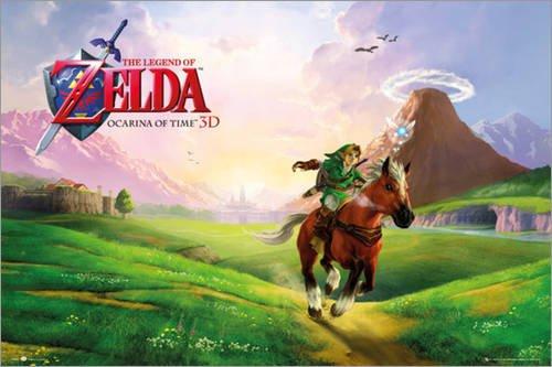 Poster Nintendo - Zelda Ocarina of Time - preiswertes Plakat, XXL Wandposter im Format 91.5 x 61 cm