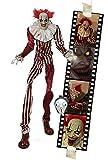 Horror Clown 2 Meter Halloween Puppe Roboter Licht Sound Bewegung Animatronic Deko