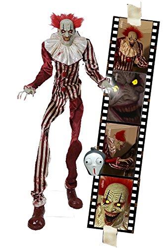 Horror Clown 2 Meter Halloween Puppe Roboter Licht Sound Bewegung Animatronic (Animatronics Halloween)