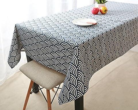 GRJH® Toile de table, Toile de coton pleine grandeur Style japonais style moderne Table basse à café Table à manger Rectangle en tissu imperméable ( taille : 60x60cm )