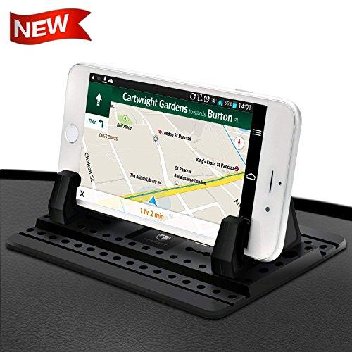 FITFORT Handyhalterung Auto Kfz Armaturenbrett Universal Rutschfest Handyhalter für iPhone XS Max X 8 7 Plus Galaxy Hinweis 8 S9 S8 Plus S7 Edge und 3-7 Zoll Smartphones oder GPS-Geräte