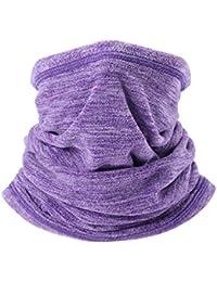 AYPOW Polaire Neck Warmer, Cache-Cou Polyvalent Hiver Chaud Extra Long  Cagoule Coupe-Vent Cagoule Coupe-Vent(Couleur Violet)- Taille… eb5db91dc04
