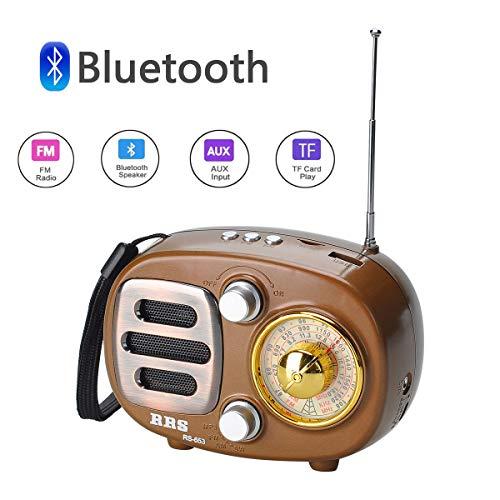 AM FM 2-Band Radio COVVY Digital 12/24H Zeitanzeige Radio batteriebetrieben Tuning Stereo Personal Radio mit Kopfhörer K-653BTA Gold