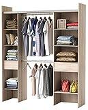 habeig Kleiderschrank AKAZIE 3005 offen BEGEHBAR Regal Schrank Garderobe Schlafzimmer