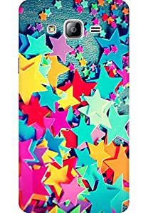AMEZ designer printed 3d premium high quality back case cover for Samsung Galaxy On7 (colourful stars)