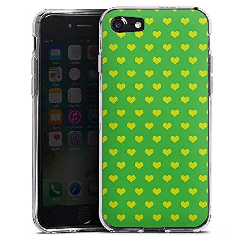 Apple iPhone X Silikon Hülle Case Schutzhülle Herzchen Grün Polka Silikon Case transparent