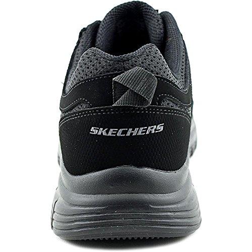 Skechers Burns-Agoura Herren Nubukleder Wanderschuh Black/Black
