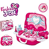 SHOPEE BRANDED Children Beauty Makeup Kit Pretend Play Cosmetic Set Toy Kids Role Games Tools Accessories Portable Suitcase (17in1