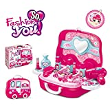 #8: SHOPEE BRANDED Children Beauty Makeup Kit Pretend Play Cosmetic Set Toy Kids Role Games Tools Accessories Portable Suitcase (17in1