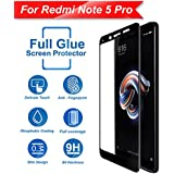 CareFone Mi Redmi Note 5 Pro Tempered Glass Screen Protector Edge To Edge Fit 9H Hardness Bubble Free Anti-Scratch Crystal Clarity 5D Curved Screen Guard For Xiaomi Mi Redmi Note 5 Pro - Black