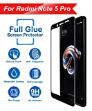 #6: CareFone Mi Redmi Note 5 Pro Tempered Glass Screen Protector Edge to Edge Fit 9H Hardness Bubble Free Anti-Scratch Crystal Clarity 5D Curved Screen Guard for Xiaomi Mi Redmi Note 5 Pro - Black