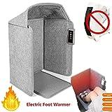 Calentador de pie eléctrico, termostato ajustable Calentador de espacio plano plegable Oficina debajo del escritorio Calentador de pie con funcionamiento silencioso