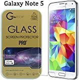 Gorilla Tech ® Premium Tempered Glass Screen Protector for Samsung Galaxy Note 5 Invisible Shield Cover 9H Hardness Crystal Clear HD Quality Shatter & Scratch Resistant 3D Touch Compatible LCD Guard