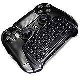 GEEKLIN Mini 47 Keys Wireless Tastatur, Spiel Griff Controller 2.4G Tastatur Adapter Controller PS4 PlayStation (Schwarz) Fernbedienung für Joystick