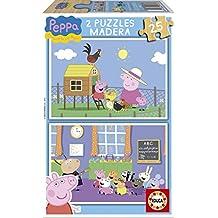 Puzzles Educa - Peppa Pig, 2 puzzles x 25 piezas (15830)