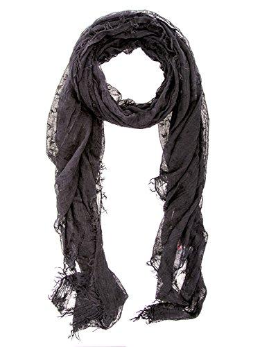 ARMANI JEANS - Sciarpa donna stampata 924068 cc043 nero
