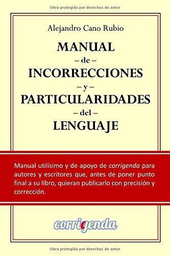 Portada del libro Manual de incorrecciones y particularidades del lenguaje