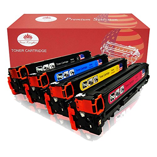Pflege Toner (Toner Kingdom 4 Pack Kompatible HP 131X CF210X CF211A CF212A CF213A Tonerpatrone Für HP LaserJet Pro 200 Color M251n,Color M276n, M251nw, M276nw Drucker (1 Schwarz, 1 Cyan, 1 Gelb,1 Magenta))