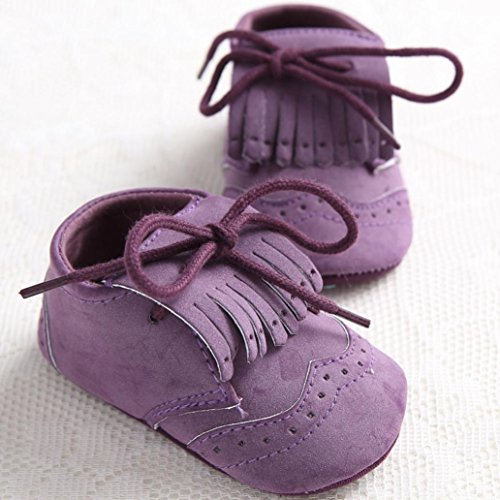 ~ Babym盲dchen Alter rutschfest 18 Monate oder Lila Schwarz Hunpta 12 Leder Schuh Schn眉rung junge Kleinkind weiche Sohle vYq7xwd7