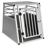 EUGAD Hundebox Box Hundetransportbox Transportbox Alubox Aluminium 1 Türig Reisebox Gitterbox 0060HT
