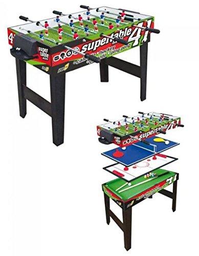 Tavolo Multigioco Sport One Mini Supertable - 4 Giochi in 1