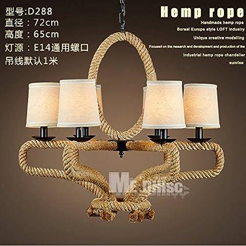 Personalizzare i lampadari di sisal LOFT industriale