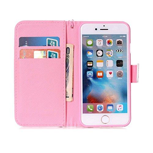 MOONCASE IPhone 6 / 6S Étui, [Dreamchaser] Dessin Motif Bookstyle PU Cuir Flip Housse Etui à rabat Portefeuille TPU Case Cover avec Strap Lanière pouriPhone 6 / 6S (4.7 inch) Dreamchaser
