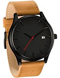 Longra☀☀Reloj de Moda para Hombre, Popular de bajo Nivel de Lujo Militar de Cuarzo Deportivo Reloj de dial de…