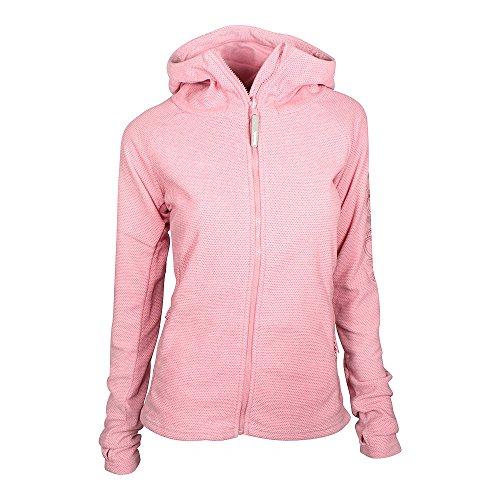 Bench Damen Fleece-Hoodie Kapuzenjacke, Light Pink, S