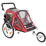 Kinderanhänger Red Loon RB10001 ALU-Light + Jogger für 2 Kinder