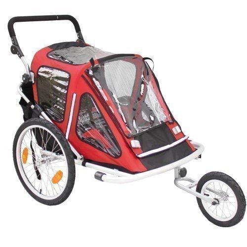 Preisvergleich Produktbild Kinderanhänger Red Loon RB10001 ALU-Light + Jogger für 2 Kinder