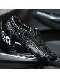 Zapatos de Hombre Cuero Primavera Verano Otoño Comfort Mocasines y Slip-Ons Zapatos de Caminar Dividir Conjunta Para Oficina Informal y Carrera Black Brown