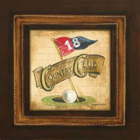 Golf Country Club par, Gregory Gorham – Fine Art Print Disponible sur papier et toile, Toile, SMALL (8.5 x 8.5 Inches )