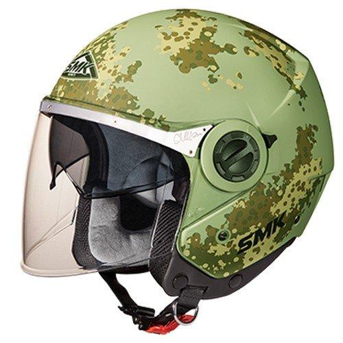 SMK MA888 Swing Game Graphics Open Face Helmet (Matt Green, XL)