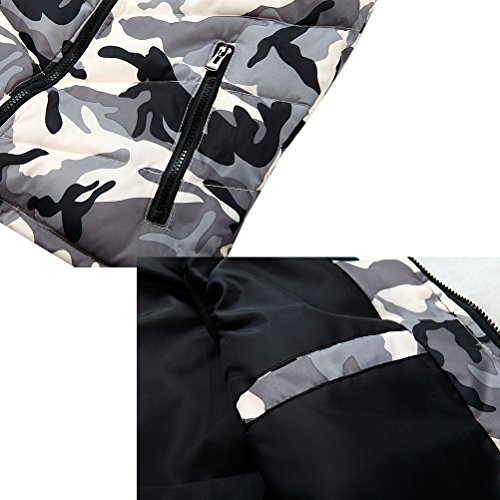 Linyuan bonne qualité Men's Spring Autumn Camouflage Zipper Outerwear Vest Hood Sleeveless Café