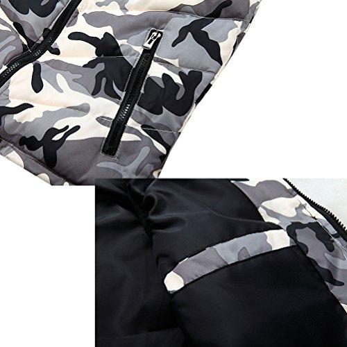 Zhuhaitf Oberbekleidung Men's Spring Autumn Vest Hood Sleeveless Camouflage Zipper Outerwear Jacket Red