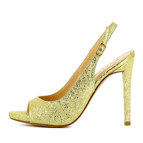 FLAVIA Damen Sling Peeptoe Metallic Gold