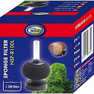 Aqua Nova NSF-R100L ROUND Aquarium Sponge filter for fish tanks, fry and quarantine tanks