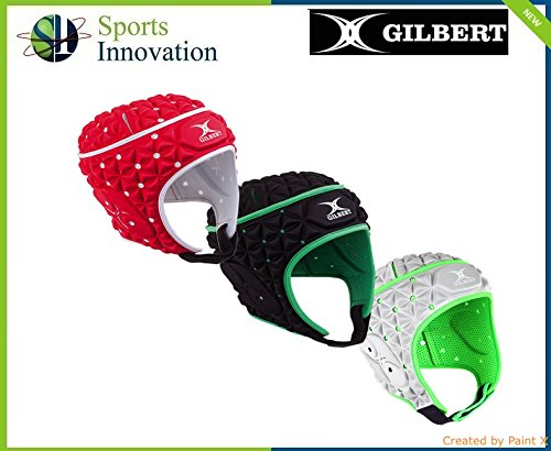 Gilbert Rugby Ignite Head Guard Scrum Cap Hat (red/White/Black)