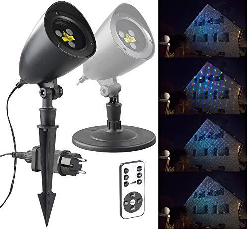 Lunartec Sternenhimmel: RGB-Laserprojektor mit Sternen-Lichteffekt & Fernbedienung, IP65/IP44 (RGB Laser)