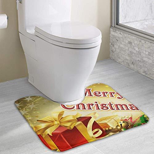 Hoklcvd Personalisierte Toilette Individuelle Gestaltung Ihrer eigenen Fotos WC U-förmige MatteCartoon weiche Matte Dusche Boden Teppichboden Badezimmer