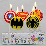 Partymane Superhero Theme Candles(Multicolour)
