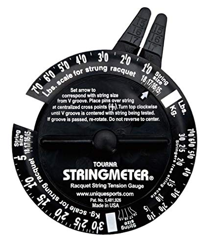 Tourna UnisexErwachsene Stringmeter schwarz