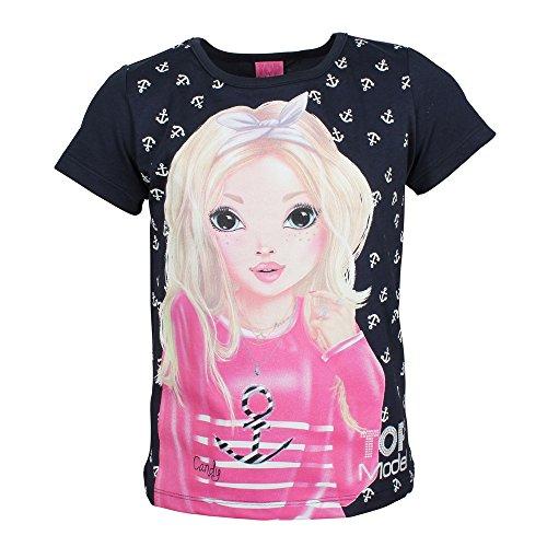 Top Model Mädchen T-Shirt Candy 85003 Dunkelblau
