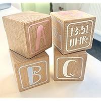 Holzwürfel mit Geburtsdaten